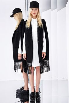 fringed coats 2015 | What do you think of DKNY's Resort lineup?