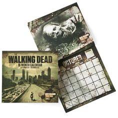 Walking Dead Zombie Calendar
