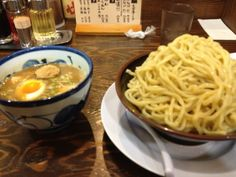 MEN-YA DAISHARIN. Popular menu is still Tsukemen. Noodles with thick noodles, soup is a rich fish-based soup. The soup has been riding a fish meal of bonito. You can choose the Atsumori or Hiyamori. Ramen is a thin middle thick men than noodle, seafood flavor is strong soup is, frankly, is delicious without persistently.  Ramen is a thin NakaFutoshimen than noodle, seafood flavor is strong soup is, frankly, is delicious without persistently.