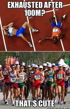 As both a distance runner and a sprinter I can say that they equally wear you out, one just lasts longer than the other.