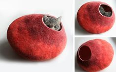 Felted Wool Cat Beds
