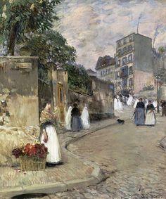 Rue Montmartre, Paris, 1888  par  Childe Hassam (1859-1935)  www.facebook.com...