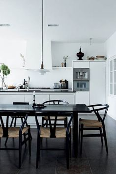 Black Wishbone Chairs