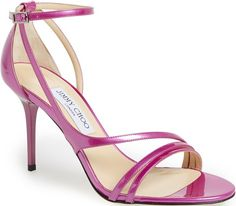Jimmy Choo Jazzberry Vessel Stiletto Sandal $750.00 #heels - CLICK HERE for more: http://www.needcuteshoes.com/products/jimmy-choo-jazzberry-vessel-stiletto-sandal/