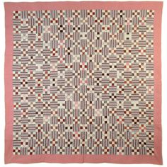 Nine Patch Quilt  | From a unique collection of antique and modern quilts at http://www.1stdibs.com/folk-art/quilts/