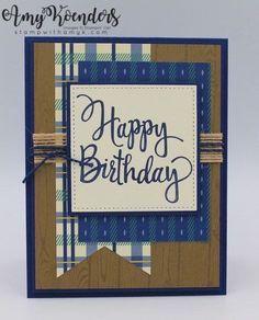Boys birthday card stampin up cards birthday pinterest boy stampin up stylized birthday for the inkin krew blog hop m4hsunfo