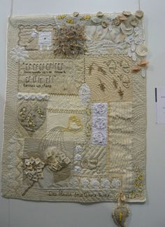 SMAM 2012 Liepvre Un quilt, une vie - France patchwork - Picasa Albums Web Ribbon Embroidery, Embroidery Stitches, Embroidery Patterns, Quilting Projects, Quilting Designs, Quilting Ideas, Fabric Art, Fabric Crafts, Crazy Quilt Blocks