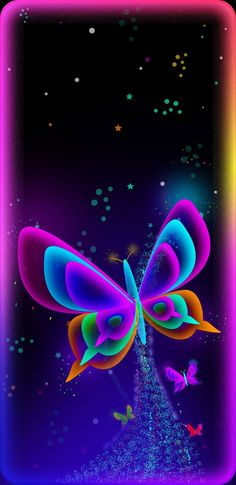 By Artist Unknown. Phone Background Wallpaper, Phone Screen Wallpaper, Wallpaper Iphone Cute, Cellphone Wallpaper, Colorful Wallpaper, Mobile Wallpaper, Cute Wallpapers, Wallpaper Backgrounds, Butterfly Pictures