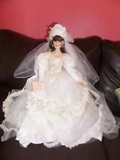 MARYSE NICOLE Vanessa Porcelain Bride Doll Franklin Mint 22""