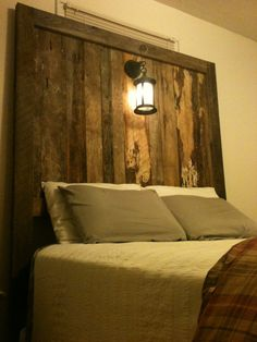 Shop for headboard on Etsy, the place to express your creativity through the buying and selling of handmade and vintage goods. Furniture, Barnwood Furniture, Home Furnishings, Rustic Decor, Room Redesign, Home Decor, Bedroom Decor, Headboard, Headboard With Lights
