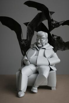 Las esculturas de cartón de Warren King