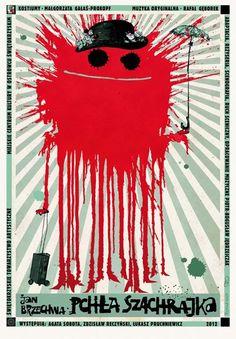 Pchla Szachrajka, Polish Theater Poster, Ryszard Kaja