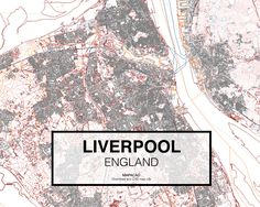 Liverpool - England. Download CAD Map city in dwg ready to use in Autocad. www.mapacad.com