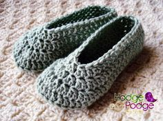 Free Crochet Pattern--Simple Child Slippers - (Use this pattern to recreate Monster Slippers!)