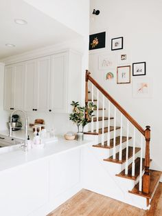 You may already know that the back stairwell in our house is one of my very favorite things about our home, it reminds me of my grandparents house growing up, a