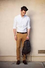 Pantalones chinos para hombre. Outfit con pantalón chino. Cómo llevar un pantalón chino. Ideas y tips.