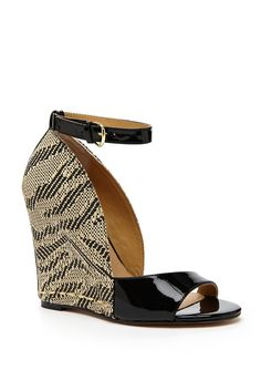 I love the patterned wedge! It also has a patent leather stripe up the back ~ sexy