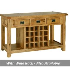 rustic+console+cabinet | Rustic Reclaimed Oak Console / Wine Table - Showhouse Furniture ...