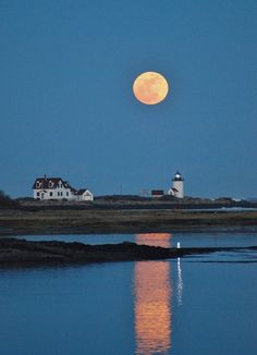 supermoon in Maine