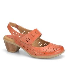 Look what I found on #zulily! Peach Safia Leather Slingback Mary Jane #zulilyfinds