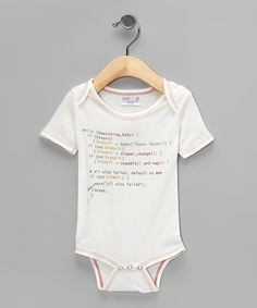 Natural Code Organic Bodysuit - cute nerdy baby bodysuit from zulily