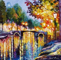 Night of Purple oil painting on canvas by leonid afremov, oil painting on canvas