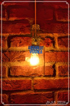 Absolut Vodka Bottle Light Hängelampe Pendellampe von JealousDesign auf Etsy