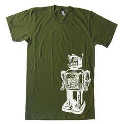 Mens Vintage Sci-Fi Robot T Shirt tee - American Apparel Tshirt - XS S M L XL and XXL (28 Color Options). $20.00, via Etsy.