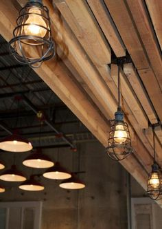 Richardson, Texas by Katie Perkins, Shop Lighting Pub Interior, Interior Design, Beer Factory, Wooden Ceilings, Brew Pub, Hospitality Design, Cafe Restaurant, Rustic Industrial, Commercial Design