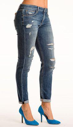 Joe's Distressed Boyfriend Love Jeans, Slacks, Distressed Jeans, Boyfriend, Skinny Jeans, Stitch, Denim, Pants, Clothes