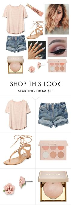 """Pink Aesthetic"" by sav16 ❤ liked on Polyvore featuring Gap, MICHAEL Michael Kors, Guerriero, 1928, Stila, Too Faced Cosmetics, Pink, blonde and nude"