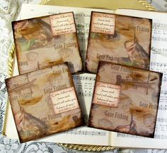 Coasters Christian Scripture Art Coasters for Men by PrayerNotes, $20.00