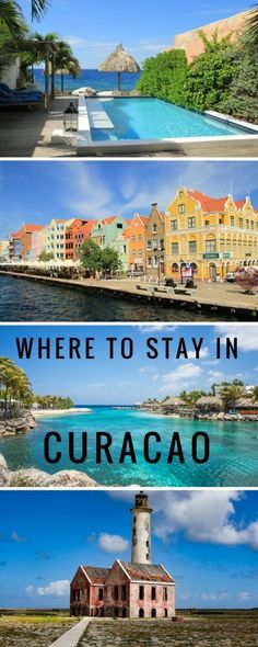Where to stay in Curacao - a luxury beach house with private pool overlooking the sea in Willemstad perfect for couples.