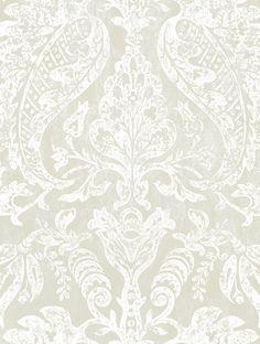 ~ Watts - Bentinck wallpaper in Platinum Frost