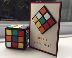 Rubik's cube and card (created by: Bhavana Patel)