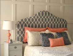 I like the shape of the headboard and the wall behind it.