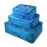 http://ift.tt/1G3wLPC LYCEEM 3pcs Universal Light Weight Clothing Packing Cubes Travel Organizer Set fit 24 Inches Trolly Case (Sky Blue)