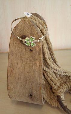 4 Leaf Clover Bangle Bracelet