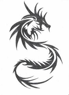 Photos dragon dessin tribal