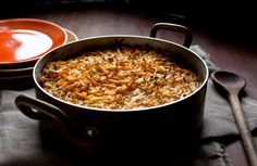 Basting the top of this kugel with melted butter lets the sweet potato soften properly without the top drying out.