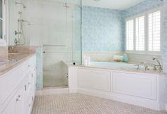 Bath Corner Tub Bathroom Layout 25 New Ideas Tile Layout, Bathroom Layout, Bathroom Ideas, Bathtub Ideas, Bathroom Designs, Layout Design, Tub Shower Combo, Shower Tub, Frameless Shower