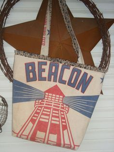 Oh...I would love to own this...  vintage BEACON Turkey and Game Bird feed sack Tote  by ginnymae, $60.00