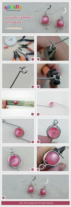 DIY Wire Earrings with Beads – Nbeads