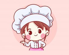 Cartoon Cartoon, Cartoon Chef, Cartoon Kunst, Cartoon Smile, Cute Cartoon Girl, Art And Illustration, Character Illustration, Art Illustrations, Cartoon Wallpaper