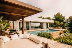 villa overlooking the water in Ibiza