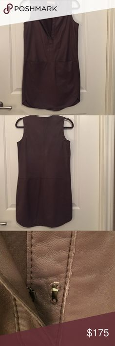 Rebecca Taylor Leather Dress Buttery leather, light enough for summer and perfect for fall with tights. Minor rip on fastener as shown that was there when I bought it, easily repaired by a leather expert, I just didn't get around to it. Worn once. Rebecca Taylor Dresses Mini