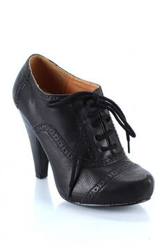 Lace Up Oxford Bootie