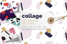 Collage Colorful Patterns by Youandigraphics