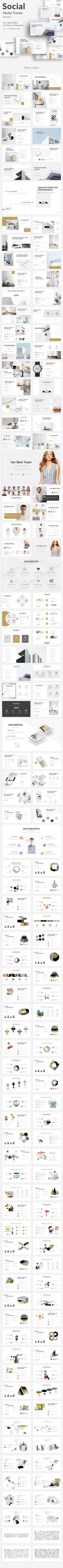Social Media Trends Design Powerpoint Template - Creative PowerPoint Templates