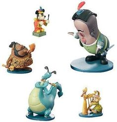 Disney Musical Moments set of 5 pewter miniatures